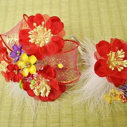 七五三 髪飾りお花モチーフ【2個セット】赤acs753-025通販 ヘアスタイル 髪型 ヘアカタログ 10P18Jun16