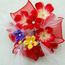 七五三 髪飾りお花モチーフ【赤】acs753-040通販 ヘアスタイル 髪型 ヘアカタログ 10P18Jun16