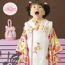【レンタル】 七五三 753 3歳 女の子 女子 着物セット 被布セット 7点セット 往復送料無料 re-3kodomo-0043