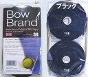 ■ネコポス¥300可能ボウブランド テニスグリップテープ 黒 30本スーパーウエットBow Brand