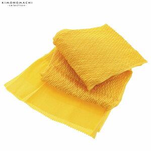 振袖用帯揚げ「丹後ちりめんふくら織り金通し 山吹色」