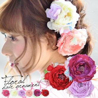 유카 타 ・ 옷 (기모노)/일본/렌탈! 일본식 꽃 머리 헤어스타일 < R > 「 염가 960 엔 원래 꽃 머리 6 종 」 fs3gm