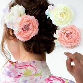 髪飾り お花の髪飾り 浴衣・着物・振袖・袴に! 和洋 花 髪飾り ヘアスタイル<R>「987円オリジナルお花の髪飾り全6種」【メール便不可】