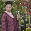 日本製洗える着物レースコート 焦げ茶の入った赤紫<R>【メール便不可】