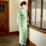 木綿の着物と京袋帯きものキモノの2点セット【メール便不可】code03<R>