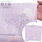 替え袖 うそつき半襦袢用「青藤 桜」半無双 洗える替袖