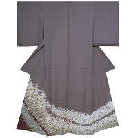 色留袖 未仕立て 単品 正絹着物「源氏鼠色 翔鶴」紋意匠丹後ちりめん
