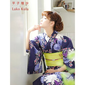 Hirako risa×Lako Kula brand yukata set  yukata,belt and choose accessories 2items yukata special bargain bags