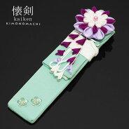 懐剣「ベビーブルー 桜の刺繍」