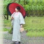 【雨対策】菱衿 雨コート「薄グリーン 細縞」S、M、Lの3サイズ