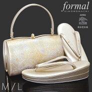 礼装 草履バッグセット「金地 丸華紋」Mサイズ、Lサイズ