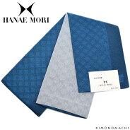 ハナエモリ 半幅帯「くすんだ青色 七宝」小袋帯