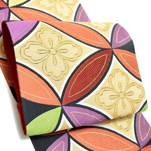 振袖 袋帯「七宝花菱」未仕立て 正絹帯 西陣織