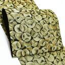 振袖 袋帯「ゴールド バブルス」未仕立て 六通柄 正絹帯 成人式 <T>【メール便不可】