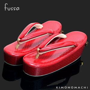 fussa 草履単品「赤色 リボン」