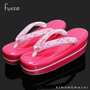 fussa 草履単品「ピンク レース」