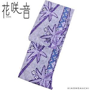 女性 浴衣「紫色 鹿の子絞り風 笹」変わり織