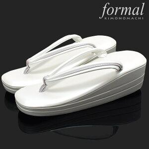 礼装 草履「ホワイト」Lサイズ フォーマル R芯