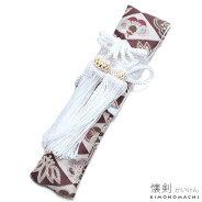 七五三 懐剣「紫色 菱格子に松竹梅」房付き お子様小物 男児