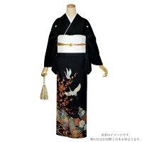 お仕立て上がり 黒留袖単品「流水に吉祥草花、鶴」