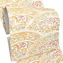 礼装 袋帯「白色 彩円唐草文」未仕立て 正絹帯 礼装帯 フォーマル <T>