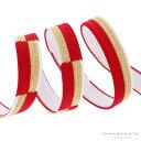 振袖 帯締め「赤色×金色 市松」京くみひも 成人式、前撮り、結婚式の振袖に 振袖向け帯締め 正絹帯締め <H>【メール便対応可】