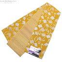 小袋 半幅帯「クロムイエロー フラミンゴ」細帯 日本製 半巾帯 小袋帯 <H>【メール便不可】