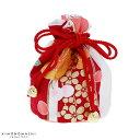 七五三 巾着単品「赤×白 市松に花」桃の節句、ひな祭り 3歳...