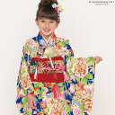 七五三 四つ身「瑠璃紺色 扇、古典花柄」Shikibu Cl...