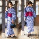 HANAE MORI 浴衣セット「濃藍色 更紗」ブランド浴衣...