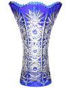 クリスタル 色被せ花瓶(φ177*H255)【ガラス かびん】【フラワーベース】