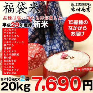【新米!】【福袋米】20kg(10kg×2袋)【平成29年産:滋賀県産】【送料無料】