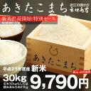 あきたこまち 玄米 30kgもしくは精米済み白米27kg【平成25年・滋賀県産】
