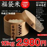 【福袋米】 白米 10kg【平成26年・滋賀県産】10kg×1袋でのお届けです♪