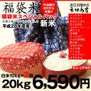 【福袋米】20kg(10kg×2袋)【平成28年:滋賀県産】【送料無料】