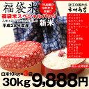 【福袋米】 白米 30kg(10kg×3袋)【平成28年:滋賀県産】【送料無料】