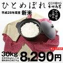 【新米!】ひとめぼれ 環境こだわり米 玄米 30kgもしくは精米済み白米27kg【平成28年・滋賀県産】【送料無料】
