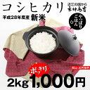 【1,000円ポッキリ】【新米!無洗米♪】コシヒカリ 2kg【平成28年:滋賀県産】