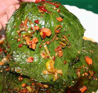 Get ♪ seasoning to send from トンムンシジャン, and get leaf seasoning of the sesame; a leaf [Korean food] of the sesame