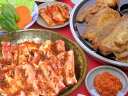 たっぷり3〜4人前★韓国風焼肉セット(豚ショート・豚肩ロース・白菜(300)・10チシャ・10えごま・味噌)[韓国食材]