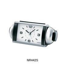 セイコー 目覚まし時計 NR442S(銀)大音量ベル音アラーム(スヌーズ機能付き)メーカー1年保証 正規品 セイコークロック