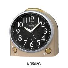 セイコー 目覚まし時計 KR502G選べるアラーム音(ベル音または電子音)(一発鳴り止め)ライト付きメーカー1年保証 正規品 セイコークロック