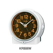 セイコー 目覚まし時計 KR886W電子音アラーム(スヌーズ機能)付きメーカー1年保証 正規品 セイコークロック