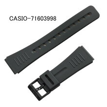 【ネコポス対応可】カシオ純正腕時計用バンド・ベルト/DBC-150/DBC-W151用ウレタン(合成ゴム)/黒色ブラックCASIO部品番号:71603998