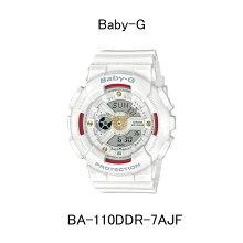 カシオ腕時計/Baby-G・BA-110DDR-7AJFホワイト・レッド・ゴールド/ダイヤモンドインデックスペアモデルメーカー1年保証 正規品 CASIO