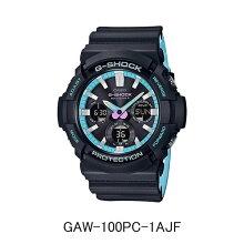 カシオ腕時計 G-SHOCK GAW-100PC-1AJF「Neon accent color」 ソーラー電波時計メーカー1年保証 正規品 CASIO