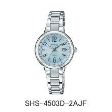 カシオ腕時計 SHS-4503-2AJFSHEEN シーン ソーラーモデルメーカー1年保証 正規品 CASIO SHEEN