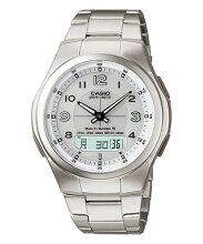 カシオ腕時計 WVA-M480D-7AJF ウェーブセプター(メンズ) 白文字盤メーカー1年保証 正規品 CASIO wave ceptor