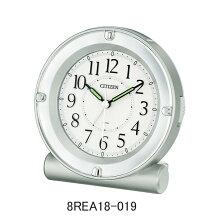 シチズン 目覚まし時計 8REA18-019シルバーメタリック色(白色)電子音アラーム(スヌーズ機能付き)メーカー1年保証 正規品 シチズンクロック