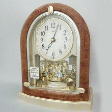 セイコー置き時計 エンブレム HW584B電波時計(電池式)メーカー1年保証 SEIKO-EMBLEM-HW584B